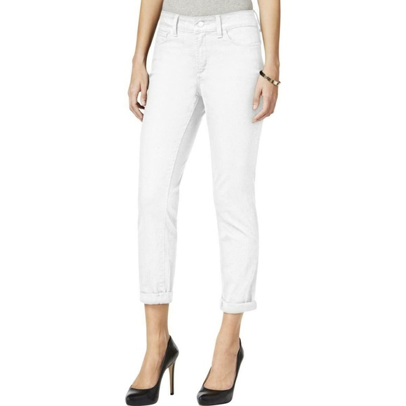 NWT Not Your Daughters Jeans NYDJ Alina Convertible Ankle in Optic White 12P